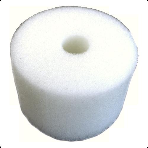 White Round Sponge(1 hole) - 2 1/4'' diam. x 1 1/2'' thick (bulk)