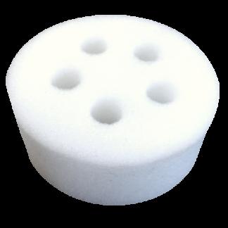 Éponge blanche ronde(5 trous) - 3 3/8'' diam. x 2 1/4'' épais (vrac)