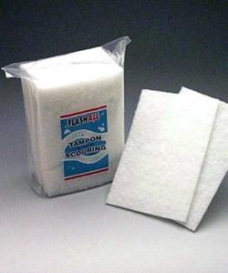 Tampon récureur blanc