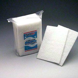 Tampon blanc - 9'' x 6'' x 1/4'' (pqt10)