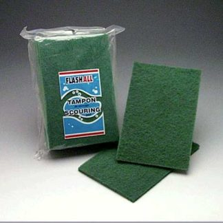 Tampon vert - 9'' x 6'' x 1/4'' (pqt10)