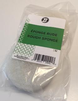 Éponge rude blanche ronde - 3 3/8'' diam. x 1'' épais (pqt2)