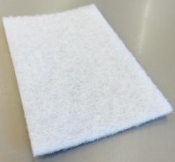 Tampon blanc - 9'' x 6'' x 1/4'' (vrac)