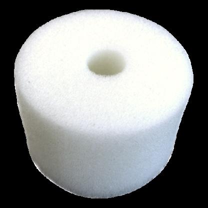 White Round Sponge(1 hole) - 2 1/4 diam. x 2 1/4'' thick (bulk)