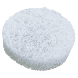 White Round Rough Sponge - 3 3/8'' diam. x 1'' thick (bulk)