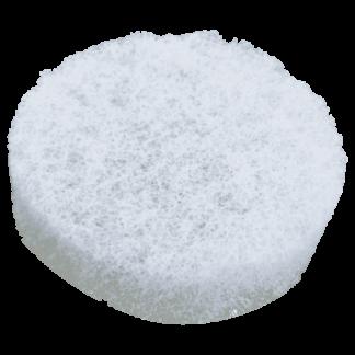 White Round Rough Sponge - 3 3/8'' diam. x 1'' thick (bulk)