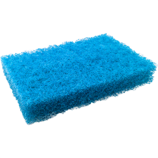 Tampon à récurer bleu