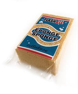 Beige cellulose sponge - 6'' x 4'' x 2''