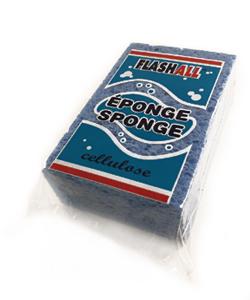 Éponge cellulose bleue - 6'' x 4'' x 2''