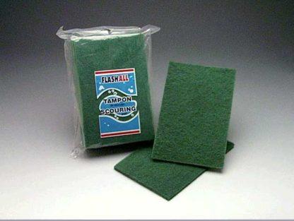 Green Scouring Pad - 9'' x 6'' x 1/4'' (pkg10)