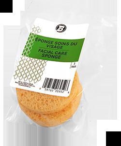 Facial care sponge - 3'' diam. x 1/2'' épais (pkg3)