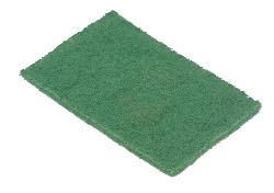 Green Scouring Pad - 9'' x 6'' x 1/4''
