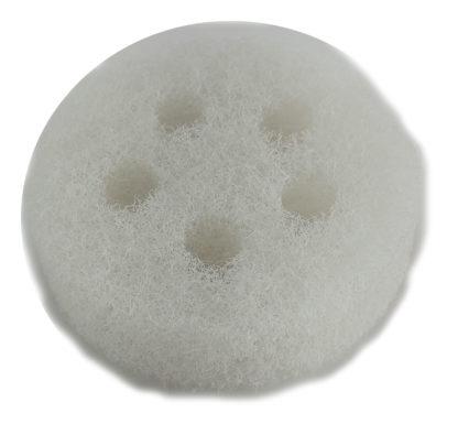 Éponge rude blanche ronde(5 trous) - 3 3/8'' diam. x 1'' épais (vrac)