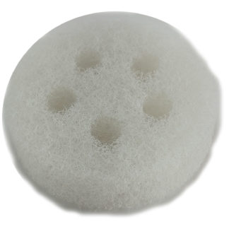 White Round Rough Sponge(5 holes) - 3 3/8'' diam. x 1'' thick (bulk)